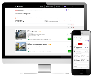 AVA business travel booking tool
